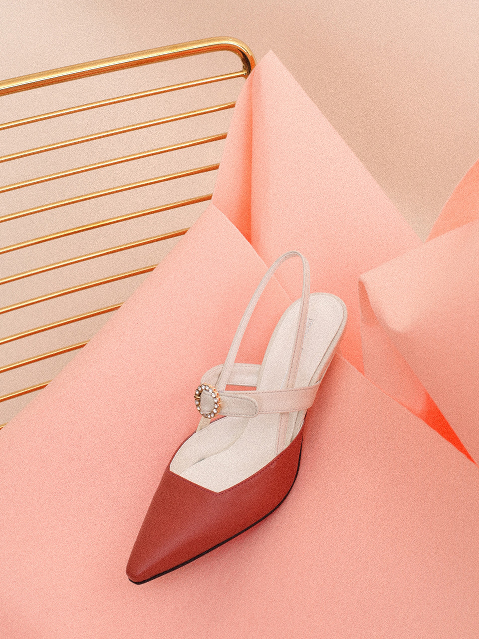 Mrc033 Blooming Slingback (Rose Cream)