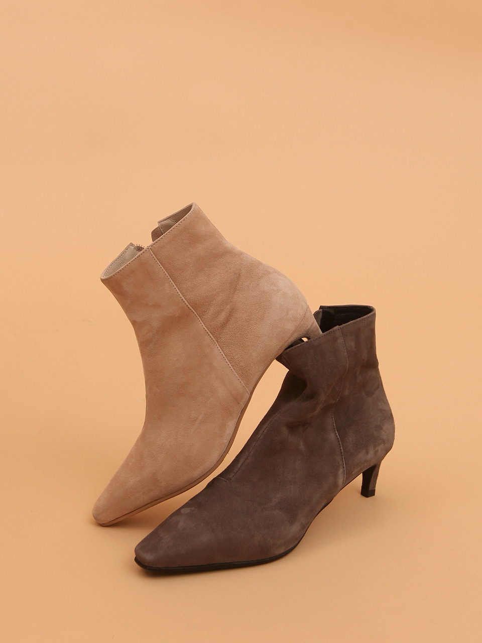 Mrc047 Soft Ankle Boots (Light Beige Suede)