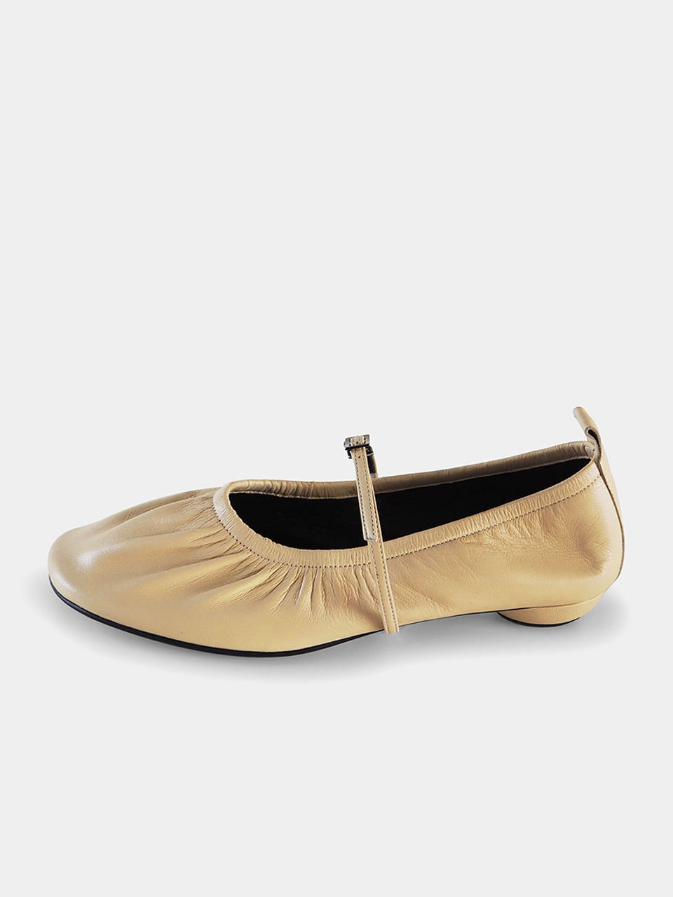PRE-OPEN [New Color] Mrc061 Shirring Flat Shoes (Butter Yellow)